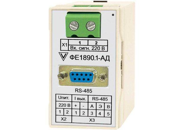Измерительный преобразователь напряжения и силы тока электрических сетей постоянного и переменного тока ФЕ1890-АД фото